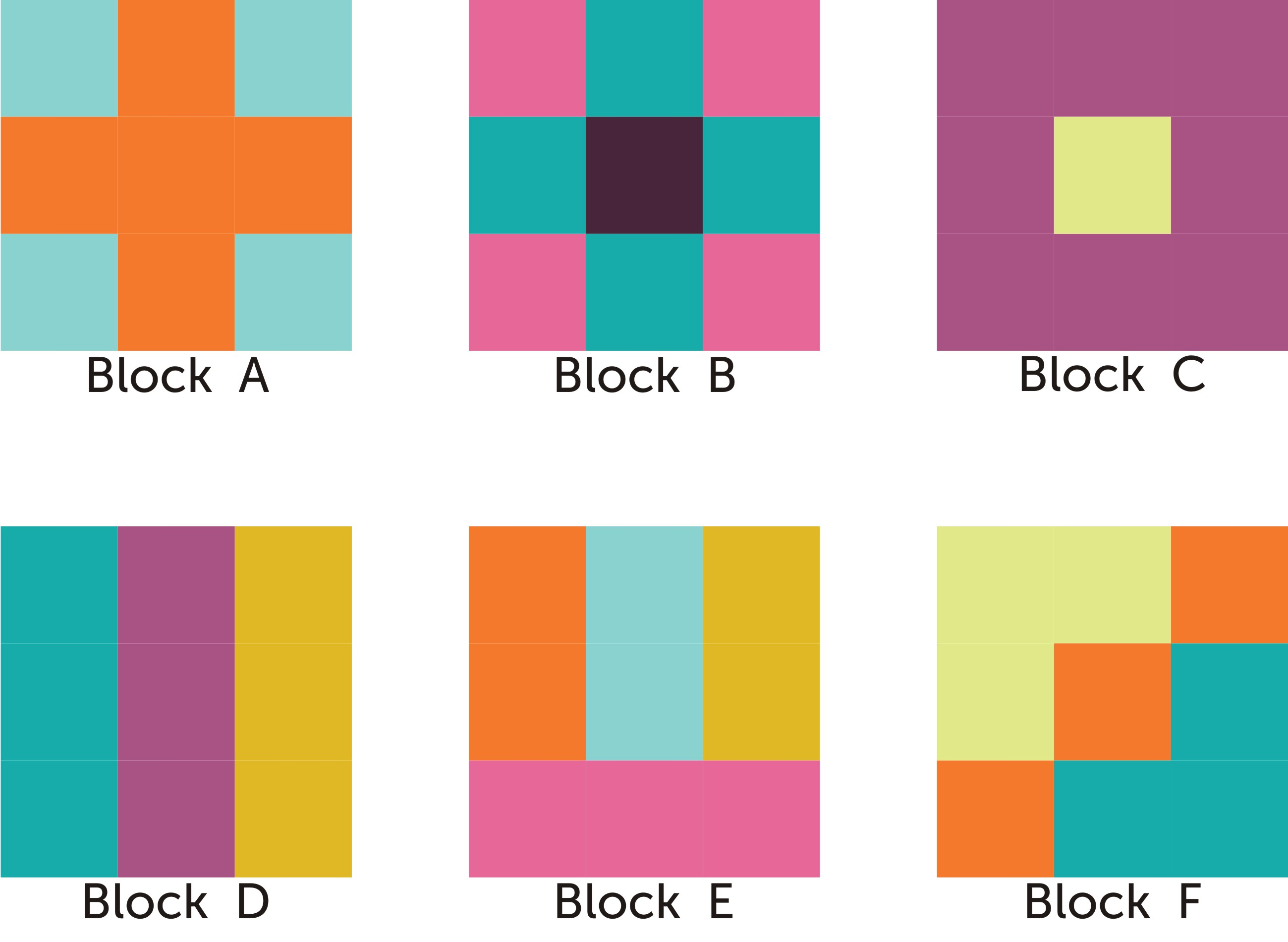 Nine Patch Block 171 Skalabara Quilts