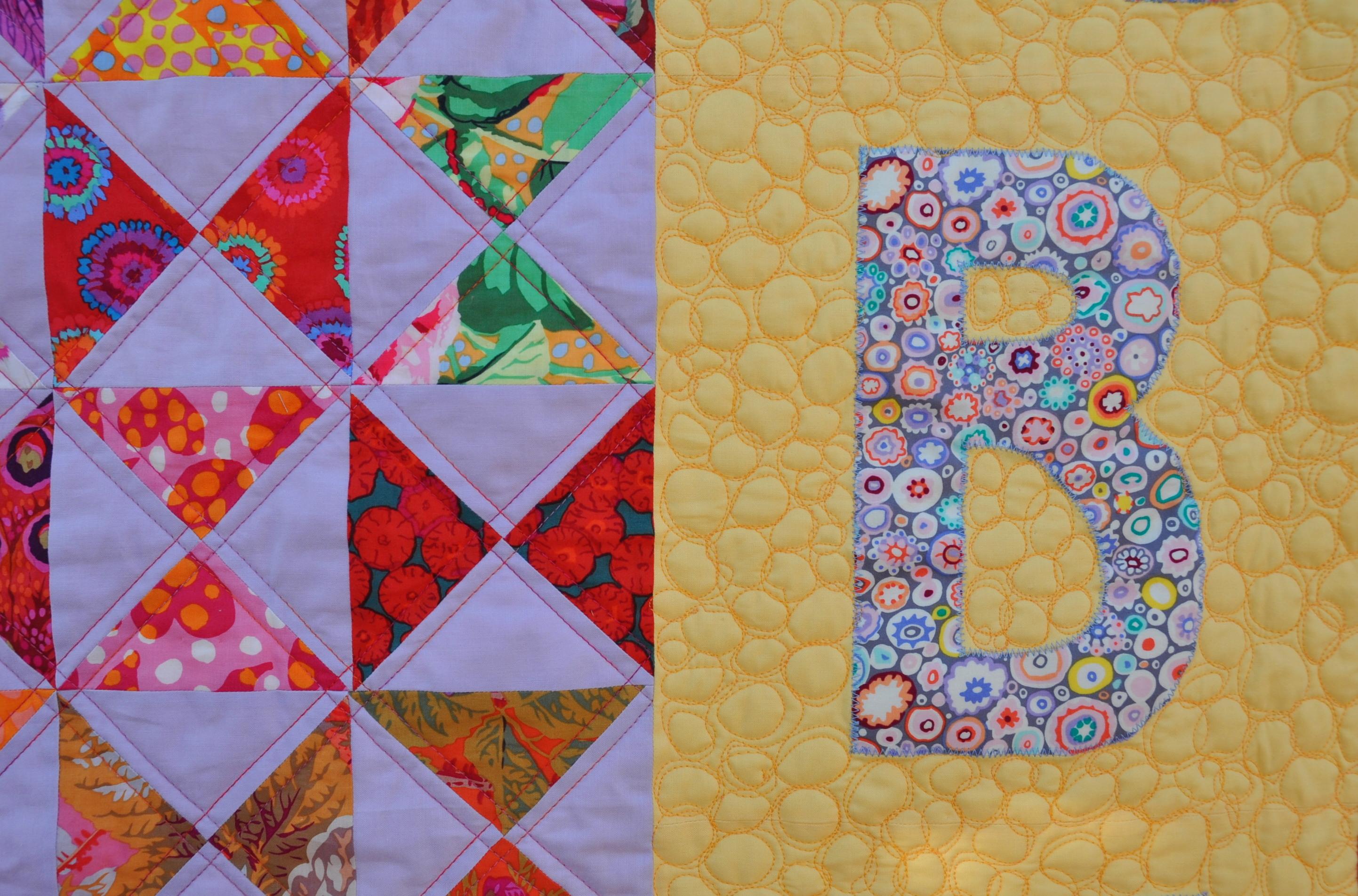 Applique letters « skalabara quilts