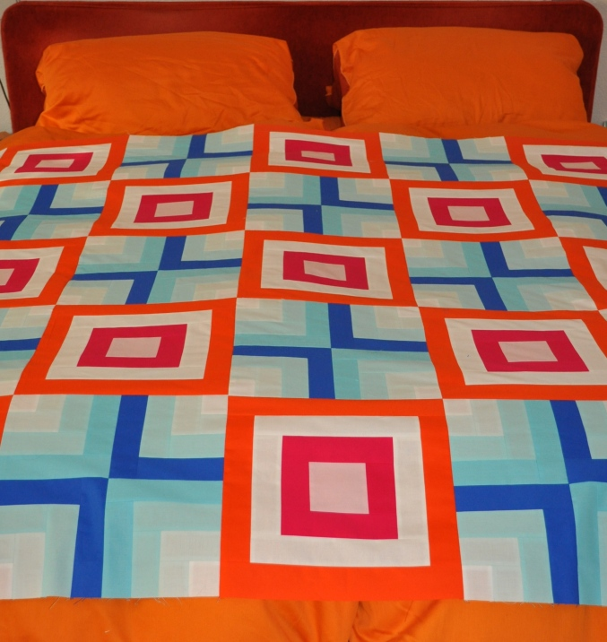 fire & ice quilt top