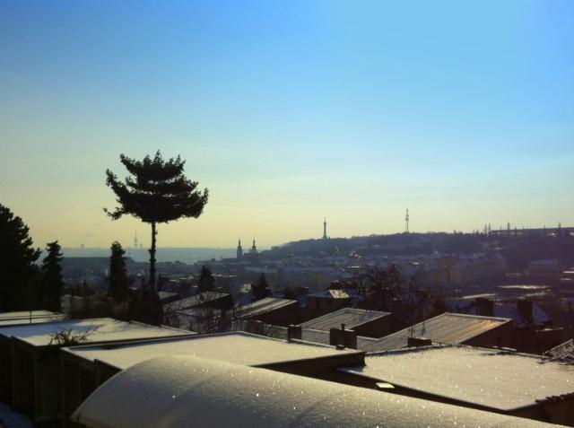 prague sun snow