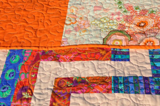 luxor throw quilting detail