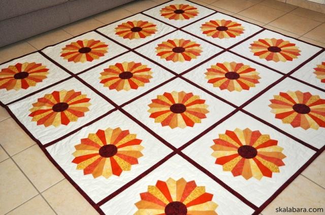 dresden plate quilt 7 - skalabara.com