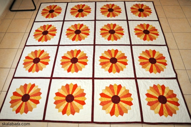 dresden plate quilt 8 - skalabara.com