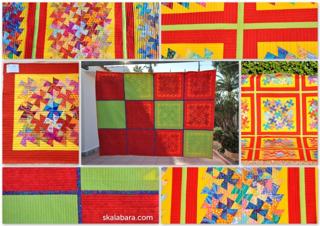 indian summer twister quilt back - skalabara.com