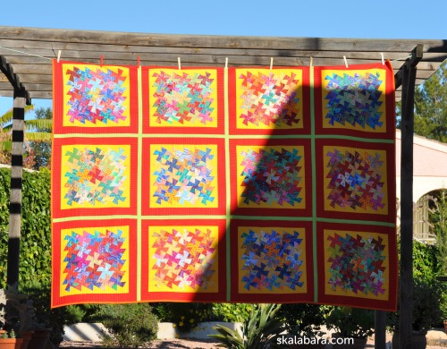 indian summer twister quilt front- skalabara.ocm