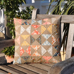 pillow cases made with persimmon charm pack