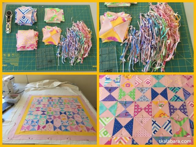 baby quilt progress - skalabara.com