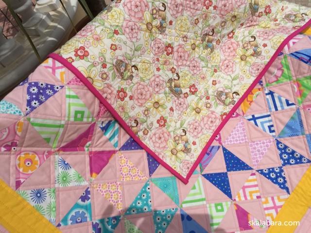 baby quilt back - skalabara.com