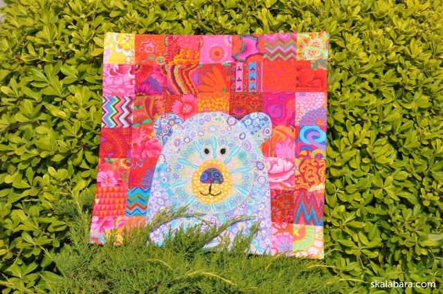 blue bear pillow cover - skalabara.com