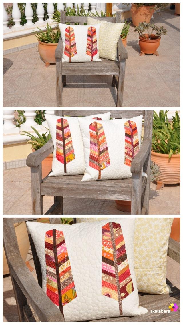 feather pillows collage - skalabara