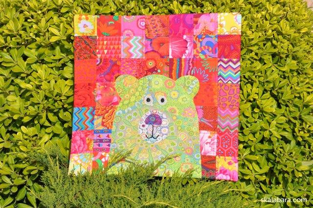 green bear pillow cover - skalabara.com