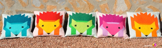 hedgehog parade pillow covers - skalabara