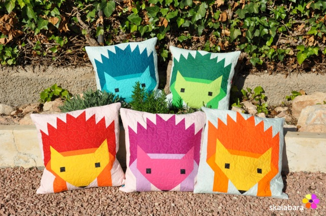 hedgehog parade pillow covers 3 - skalabara