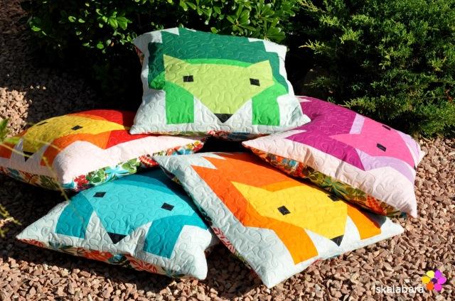 hedgehog parade pillow covers 6 - skalabara