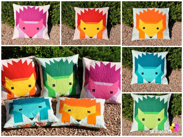 hedgehog parade pillow covers collage - skalabara