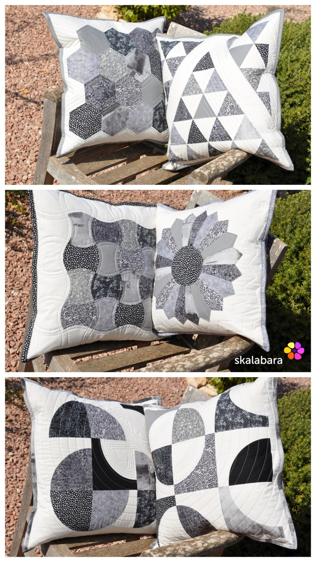 2015 quilts and pillows - black and white by skalabara