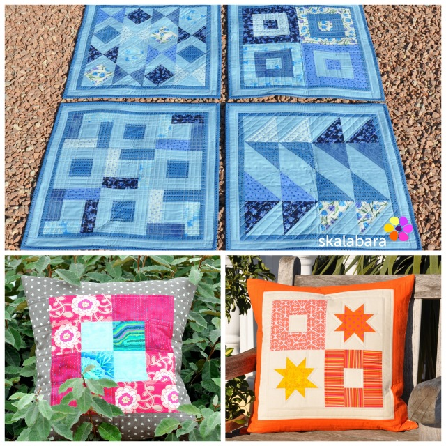 2015 quilts and pillows - blue and orange by skalabara