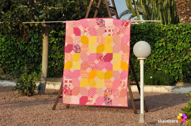 pink baby quilt 1 - skalabara