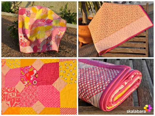 pink baby quilt collage - skalabara