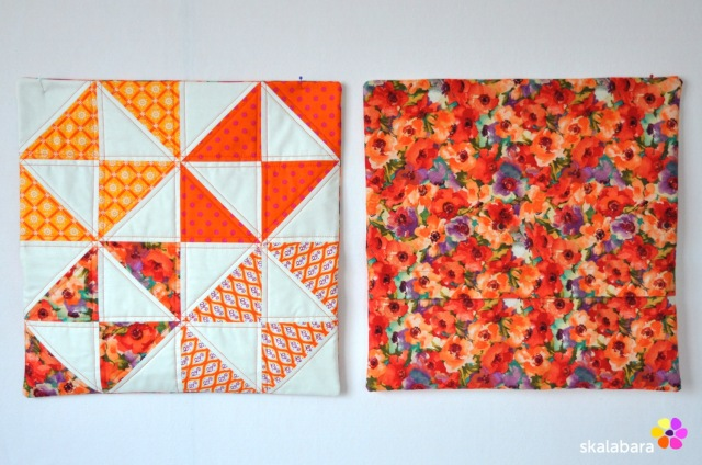 cushion covers in orange 2 - skalabara