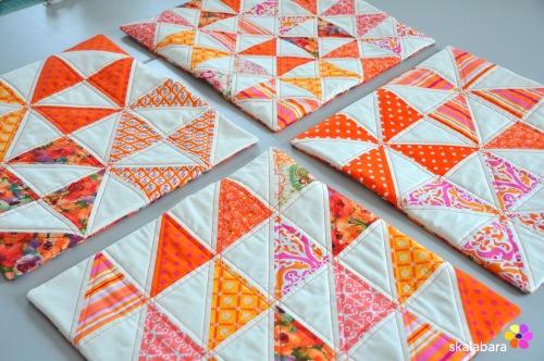 cushion covers in orange 4 - skalabara