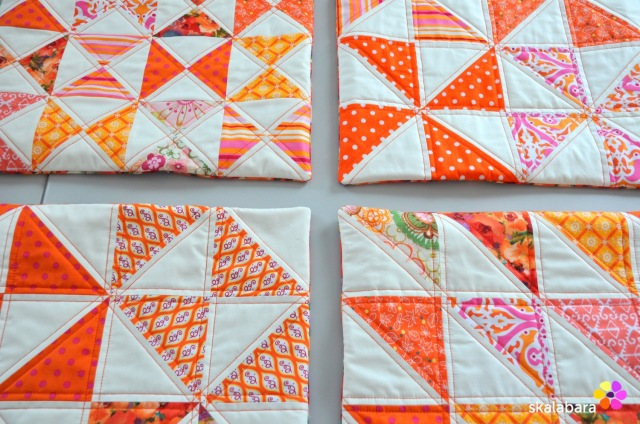 cushion covers in orange 5 - skalabara