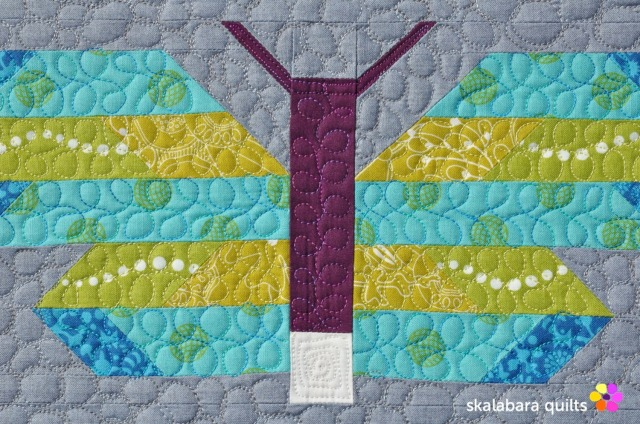 fancy forest frances firefly wings quilting - skalabaraquilts