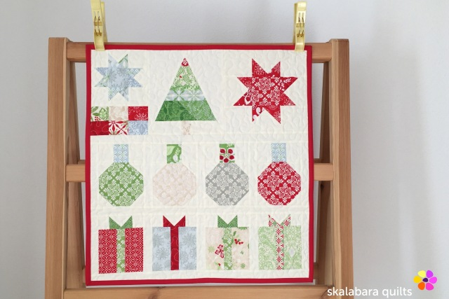 christmas wallhanging - skalabara quilts