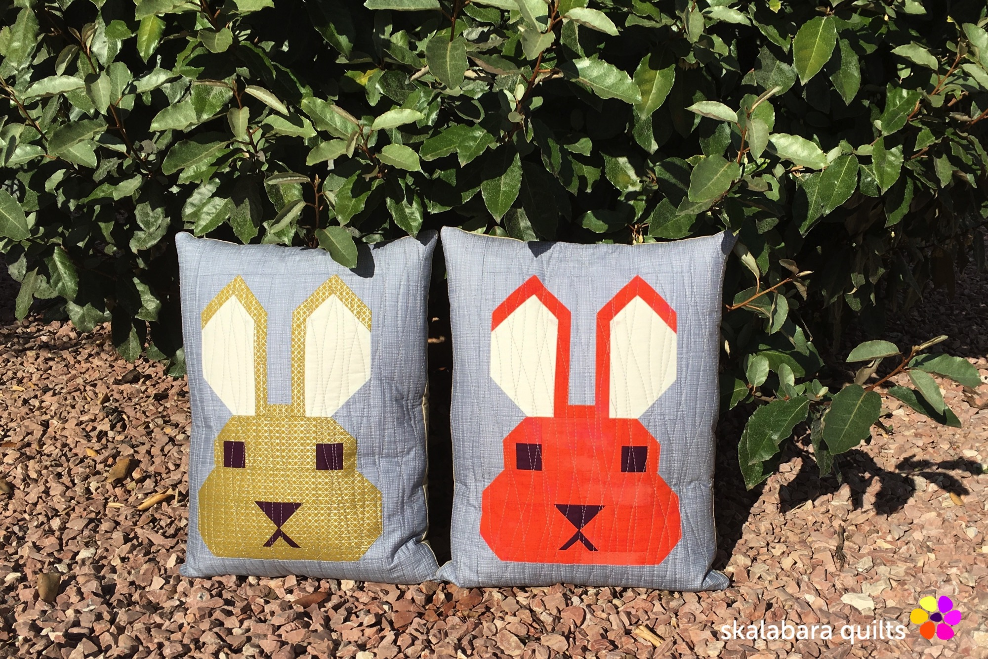 fancy forest bunny cushion cover 1 - skalabara quilts