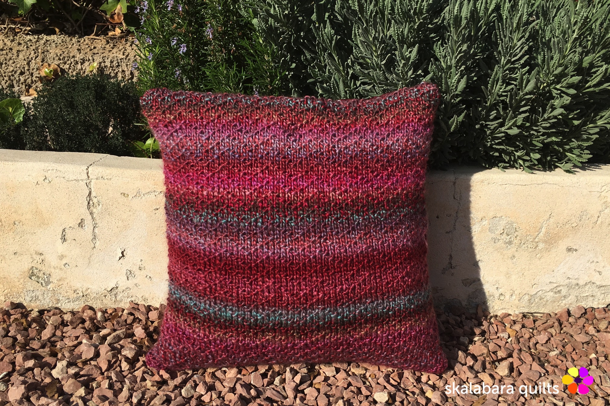 knitted chevron seed cushion cover 1 - skalabara quilts