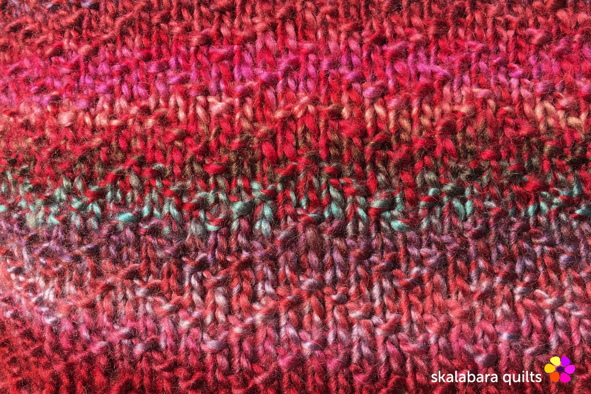knitted chevron seed cushion cover detail - skalabara quilts