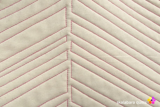placemat leave detail - skalabara quilts