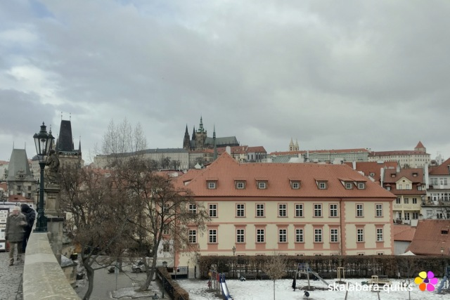 prague in winter hradcany castle