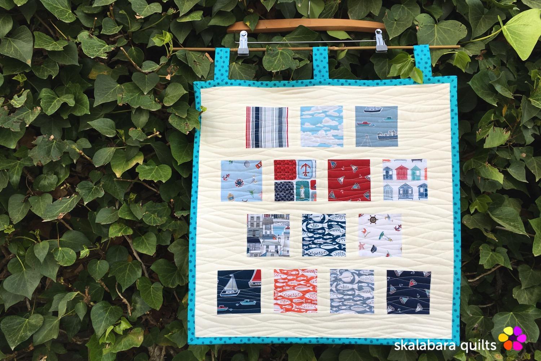 marina sample mini quilt - skalabara quilts