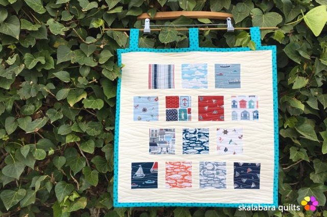 marina sample mini quilt - skalabara quilts