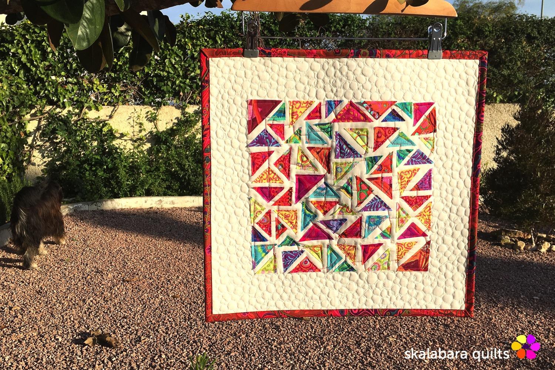 raw edge mini quilt - skalabara quilts
