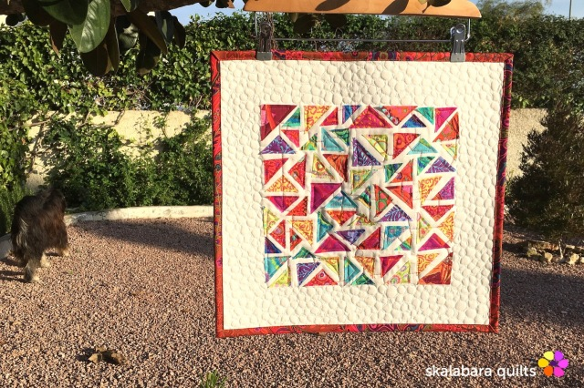 raw edge mini quilt - skalabara quilts