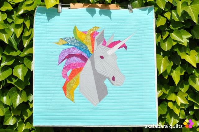 rainbow unicorn 1 - skalabara quilts
