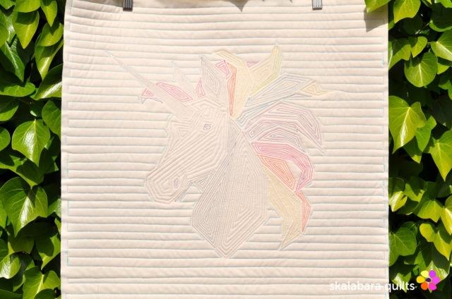 rainbow unicorn back 1 - skalabara quilts