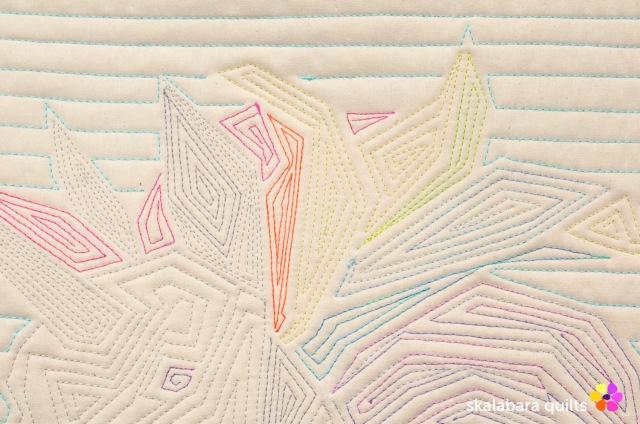 rainbow unicorn back detail 1 - skalabara quilts