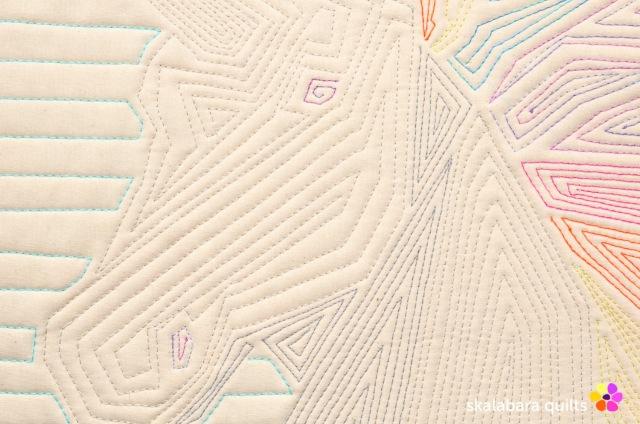 rainbow unicorn back detail 2 - skalabara quilts
