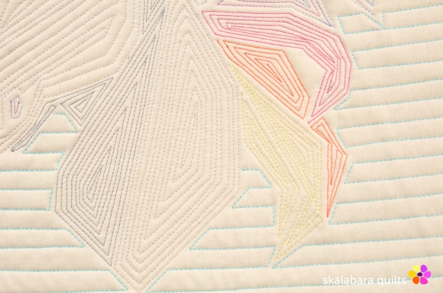 rainbow unicorn back detail 3 - skalabara quilts