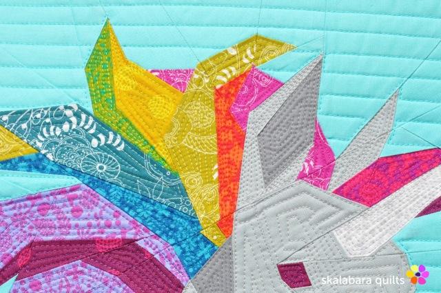 rainbow unicorn detail 1 - skalabara quilts