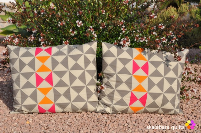 cushion cover hourglass 2x 1 - skalabara quilts