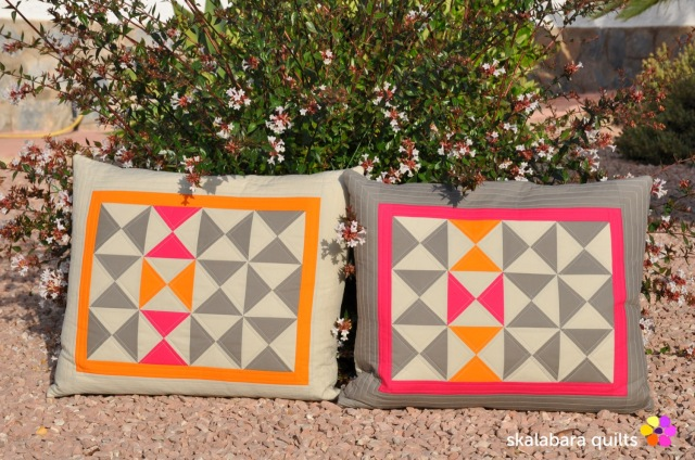 cushion cover hourglass 2x 2 - skalabara quilts