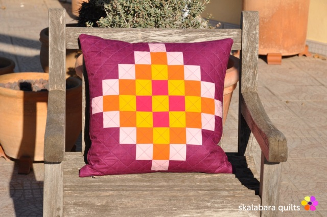 cushion cover granny squares 2 - skalabara quilts