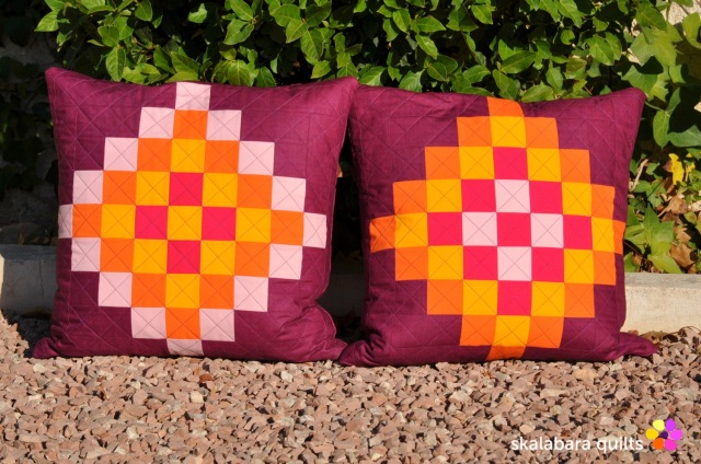 cushion cover granny squares 5 - skalabara quilts