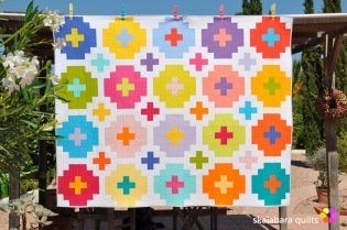 cross tile quilt - skalabara quilts