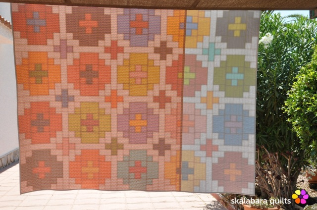 cross tile quilt backing 3 - skalabara quilts