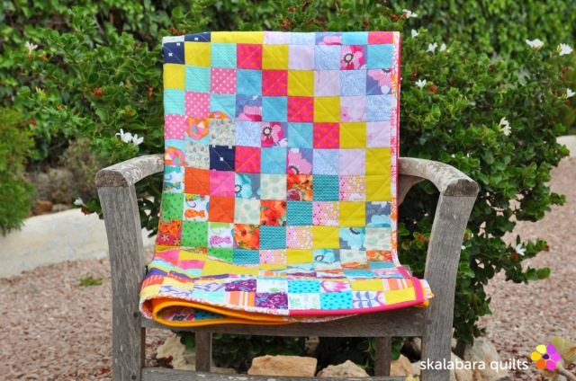 trip around the world folded quilt - skalabara quilts